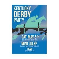 Uitnodiging sjabloon voor paardenrennen evenement