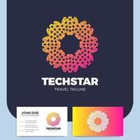 tech abstract logo en visitekaartje vector