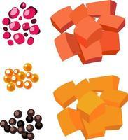 set van voedselingrediënten geïsoleerd vector