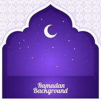 halve maan ramadan achtergrond vector