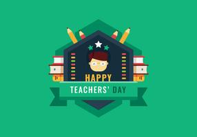 leraren dag vector