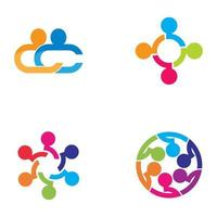 gemeenschapszorg logo afbeeldingen ontwerp vector