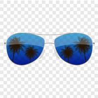 realistische zonnebril met palmboom pictogram geïsoleerd