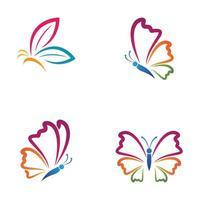 schoonheid vlinder logo afbeeldingen vector