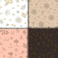 verzameling hand getrokken herfst of herfst naadloze patroon