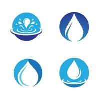 waterdruppel logo afbeeldingen vector