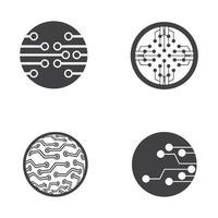 circuit logo ontwerp vector