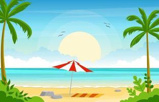 zomervakantie in tropisch strandlandschap vector