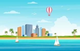 zomervakantie in tropisch strandlandschap
