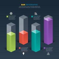 staafdiagram voor financiële analyse illustratie vector