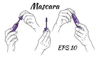 mascara in handen set