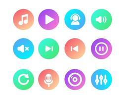 set eenvoudig pictogrammen ontwerp voor web of app