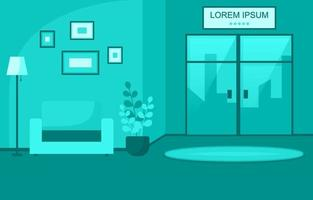 moderne hotellobby met meubilairillustratie vector