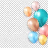 realistische 3d ballonachtergrond voor feest, vakantie, verjaardag, promotiekaart, poster. vector illustratie