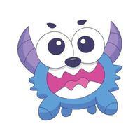 schattig monster cartoon doodle hand getrokken conceptontwerp vector kunst kawaii illustratie