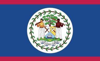 nationale vlag van belize in exacte verhoudingen - vectorillustratie vector