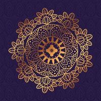 gouden bloemenmandala, decoratieve decoratie vector