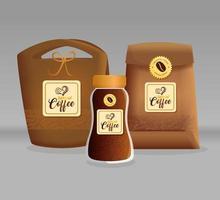 koffiemodel ingesteld voor pakketontwerp