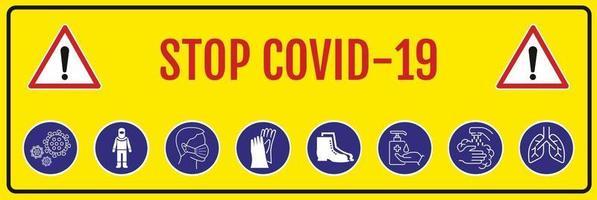 coronavirus covid 19. stop het coronavirus. vector