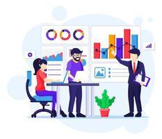 analyse bedrijfsconcept vector