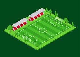Voetbalveld isometrische Vector