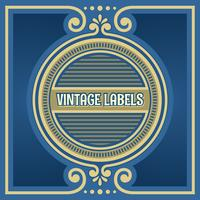 vintage labels cirkel frame vector