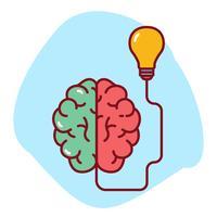 Brainstormen vectorillustratie
