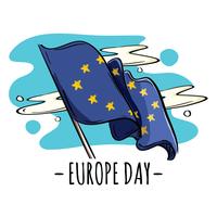 Europese dag vlag vector