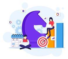 bedrijfsstrategie concept vector