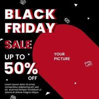 verkoop banner zwarte vrijdag concept vector