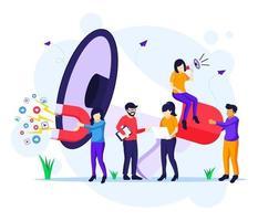 marketing strategie campagne concept