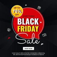 zwarte vrijdag ontwerp banner concept vector