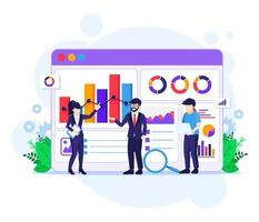 gegevensanalyse concept vector