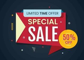 abstracte verkoop promotie sjabloon voor spandoek. online winkelconcept vector