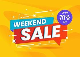 weekend verkoop banner sjabloon promotie vector