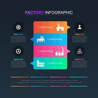 industriële zaken infographic met kleurrijke opties