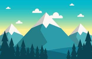 kalme berg bos natuur scène illustratie vector