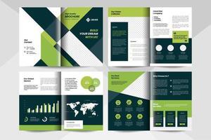 zakelijke brochure sjabloon. zakelijke sjabloon folder. vector