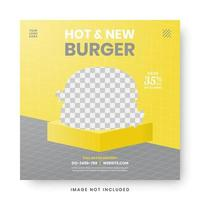 voedsel menu banner social media post vector