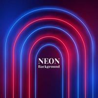 gebogen abstract neon geometrisch ontwerp