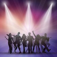 Silhouetten van mensen dansen vector