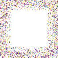 Confetti-rand vector