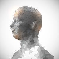 Laag poly gezicht ontwerp vector