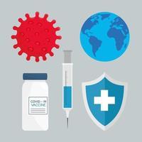 coronavirus vaccin pictogramserie