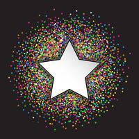 Confetti van sterren en cirkels vector