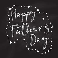 Schoolbord Father's Day achtergrond vector