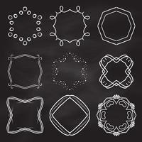 Decoratieve kaders op schoolbord achtergrond vector