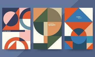 set achtergronden met trendy design. perfect voor omslagen, posters en bannerontwerpen