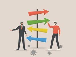 bedrijfsleiders pleiten voor een post-covid economische roadmap vector