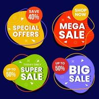 kleurrijke banner superverkoop voor online winkelen vector